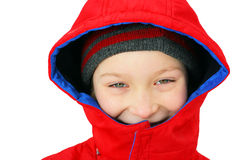 Boy in the Winter Stock Images