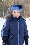 Boy and winter Stock Image