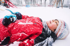Boy in winter Stock Image