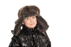 Boy in winter clothes. Stock Images