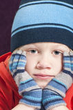 Boy in winter clothes Stock Photos