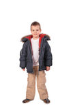Boy in winter clothes Royalty Free Stock Images