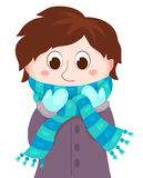 The boy in winter clothes Stock Photo