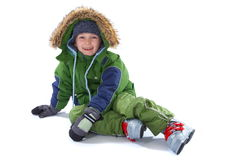 Boy in winter clothing Stock Photography