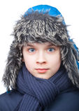 Boy in winter clothing Stock Image
