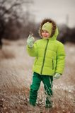 Boy in winter Stock Photography