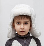 Boy in   winter hat Royalty Free Stock Photos