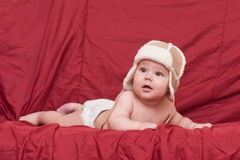 Boy in winter hat Royalty Free Stock Photo