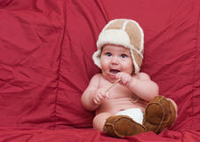 Boy in winter hat Stock Photography