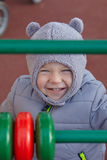 Boy in winter park Stock Photography