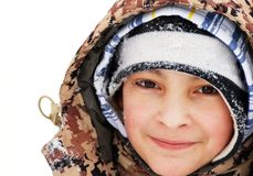 Boy winter portrait Stock Images