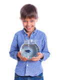 Boy With A Fish Royalty Free Stock Photos
