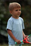 Boy With A Racquet Royalty Free Stock Photo