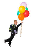 Boy With Balloons Stock Photography