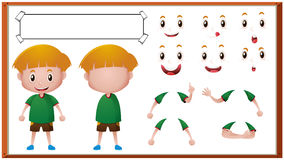 Free Boy With Different Facial Expressions Royalty Free Stock Image - 90675436