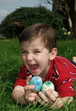 Boy With Eggs 12 Stock Images