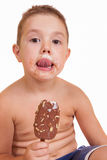 Boy With Ice Cream In His Hand Stock Image