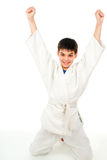 Boy won the fight Stock Photography