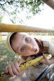 Boy wonder in the park Stock Photo