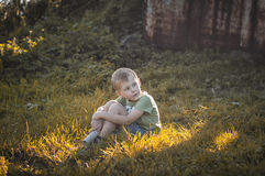 Boy in wonderland Stock Photography