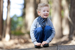 Boy in the woods Royalty Free Stock Photo