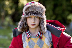 Boy In Wool Hat Royalty Free Stock Photography