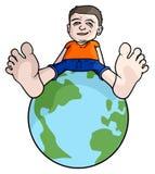 Boy and world Stock Image