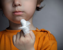 Boy with a wound Royalty Free Stock Photos