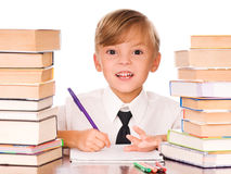 Boy writing Royalty Free Stock Photos