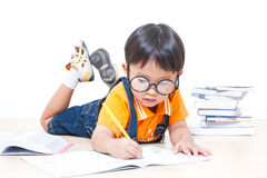The boy writing homework Royalty Free Stock Photos