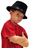 Boy wwith hat Stock Images