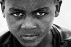 Boy's Face Gray Scale Photo Royalty Free Stock Photos