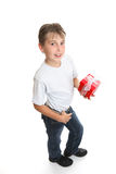 Boy with Xmas or birthday gift Stock Images