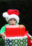 Boy with xmas presents Stock Photography