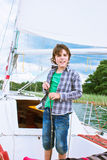 Boy yachting Royalty Free Stock Photography