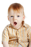 Boy yawning Royalty Free Stock Images