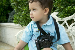 Boy 2 years outdoors Royalty Free Stock Photos