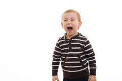 Boy yelling Royalty Free Stock Photo