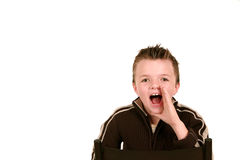 Boy yelling Royalty Free Stock Image