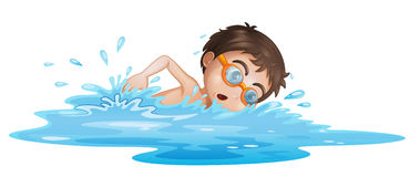 A boy with yellow goggles Stock Images