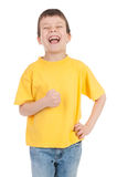 Boy in the yellow Royalty Free Stock Photography