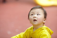 Boy in yellow Royalty Free Stock Photography