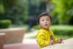Boy in yellow Royalty Free Stock Photos