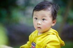 Boy in yellow Stock Photo