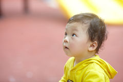 Boy in yellow Stock Photography