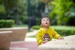 Boy in yellow Stock Photos
