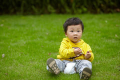 Boy in yellow Royalty Free Stock Photos