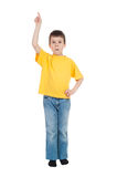 Boy in yellow shirt Royalty Free Stock Photo