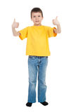 Boy in yellow shirt Stock Image