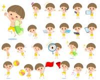 Boy Yellow Swimwear style 2 Stock Image